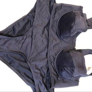 Kate Spade navy blue Bikini new